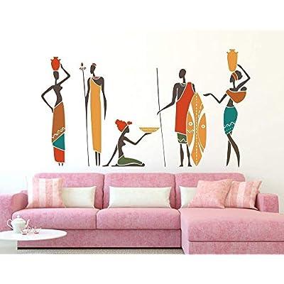 Yilooom African People Vinyl Wall Decal Art Sticker for Baby Nursery Kids Bedroom Decor: Kitchen & Dining