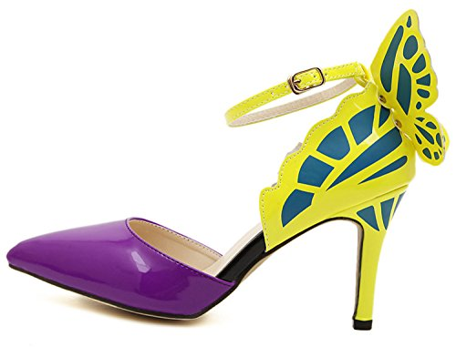 high Party Pointed Butterfly UNIOPLIIL Green Buckle Dream Sexy Shoes Sandals Wedding Heels Women Pumps Nightclub Toe UnRHnFP