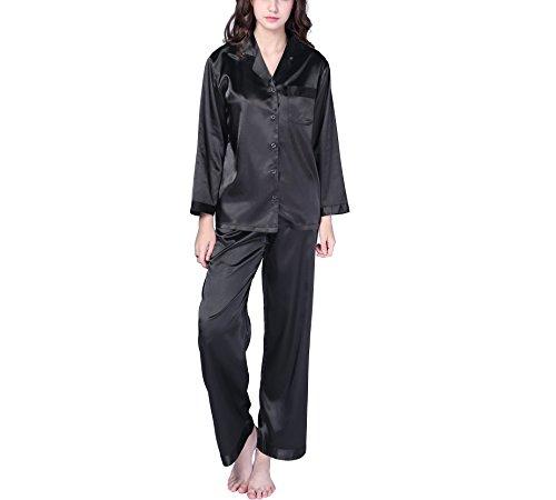2 Piece Nightgown (Richie House Women's Satin Two-piece Sleepwear Set)