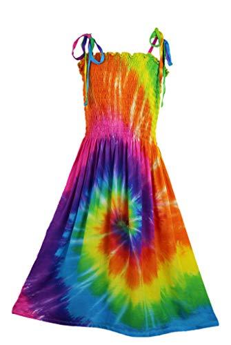 Girl's Spiral Tie-Dye Sundress, Size 4 Through 12 (10)