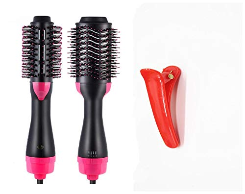 Hot Air Brush, One Step Hair Dryer 3-in-1 Salon Negative Ion Hair Straightener & Curly Hair Comb +Extra Gift Clip Hair Straightener Curler Brush for All Hairstyle