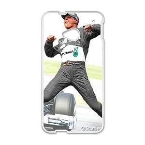 Happy Michael Schumacher White Phone Case for HTC One M7