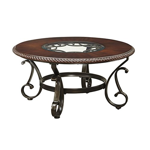 Signature Design by Ashley Gambrey Round EndTable, Reddish Brown