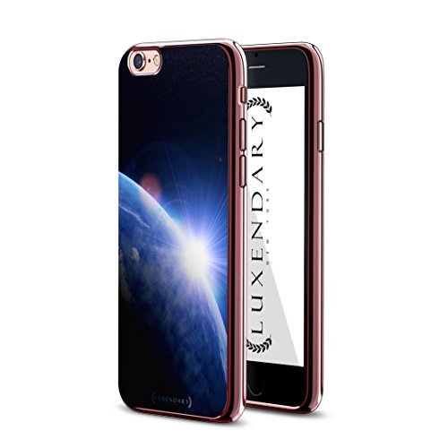 Luxendary Lux I6crmr Earth1 Earth Sunrise From Space Design Chrome Series Case For Iphone 6 6S   Rose Gold
