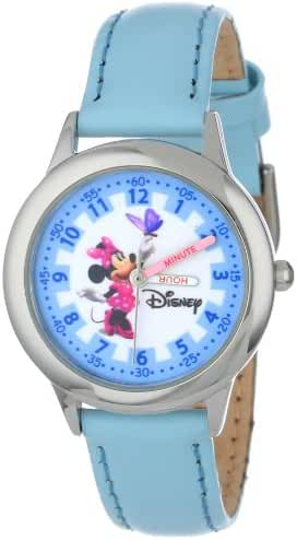 Disney Kids' W000040 Minnie Mouse Stainless Steel Time Teacher Watch