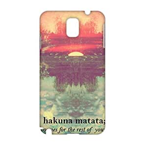 Angl 3D Case Cover Hakuna Matata Phone Case for Samsung Galaxy Note3