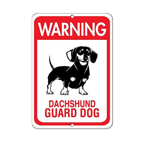 Warning Dachshund Guard Dog Pet Animal Sign Vinyl Sticker Decal -