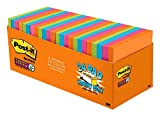 Post-it Super Sticky Notes, 4 Bright