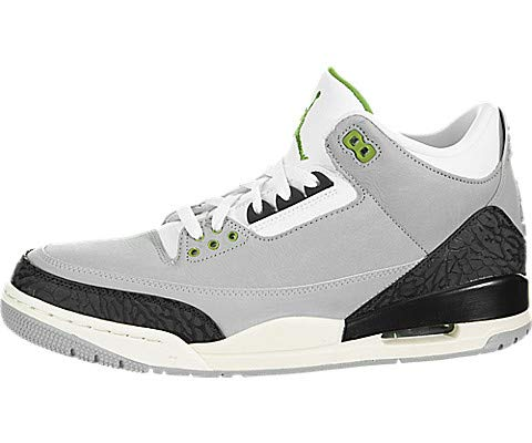 57e86d5fe8450 Nike Air Jordan Retro 3 'Chlorophyll' Men's Shoe Light Smoke  Grey/Chlorophyll 136064-006 (10.5 D(M) US)
