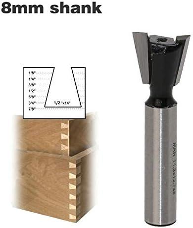 GENERICS LSB-Werkzeuge, 1 Stück 8mm Schaft Schwalbenschwanzfräser Industriequalität Wolfram Fräser for Holzschnitzerei Holzbearbeitungswerkzeuge (Cutting Edge Length : As Show)