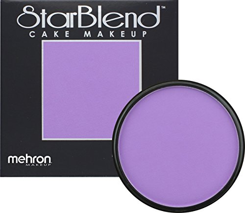 [Mehron Makeup StarBlend Cake Makeup PURPLE – 2oz] (Costume Makeup Wax)