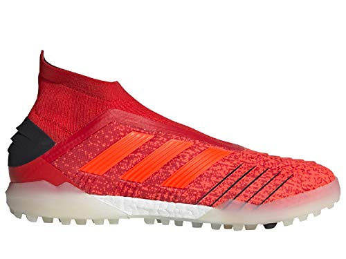 adidas Mens Predator 19+ Turf Soccer Cleats (9.5, Red/Red)