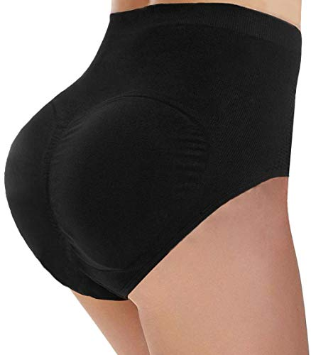 CeesyJuly Womens Padded Butt Enhancer Underwear Tummy Control Slimmer Panties