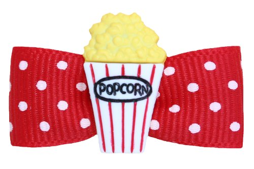 Hot Bows Movie Night with a No-Slip French Clip for Dogs by Hot Bows