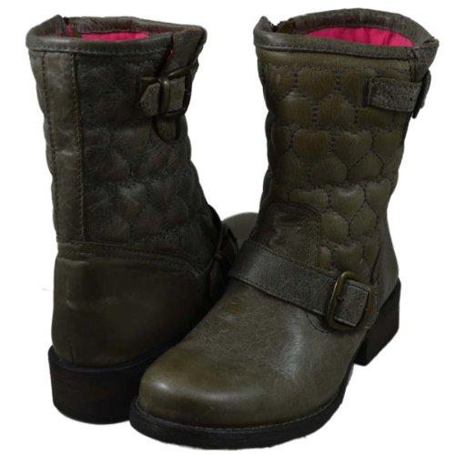 Betsey Johnson Chaussures De Démarrage Pynch Femme Taupe En Cuir