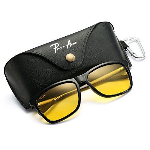 Frame Vision Light - Pro Acme Hot Fashion Driving Polarized Sunglasses for Men Women Al-Mg Metal Frame Ultra Light (Night Vision Lenses)