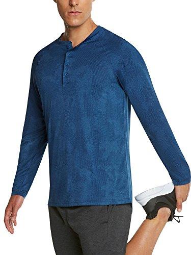 Graphic Soccer Short Tee Sleeve (Jolt Gear Men's Long Sleeve Henley Crewneck T-Shirt – Dry-Fit Casual Camo Top w/Buttons)