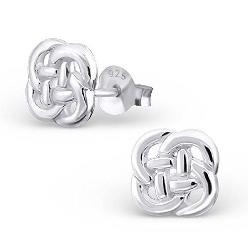 Cute Sterling Silver Celtic Knot (925 Sterling Silver Celtic Knot Stud Earrings 16441)