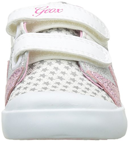 Geox B Kilwi Girl, Zapatillas para Bebés Blanco (White/LT Pink C0814)