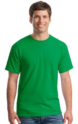 Tee Verde Uomo Gildan Irlandese Maglietta Cotton Heavy qPRBFES