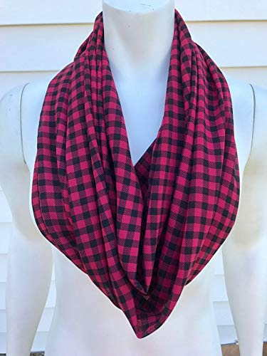 red and black buffalo plaid christmas scarf - Christmas Plaid Scarf