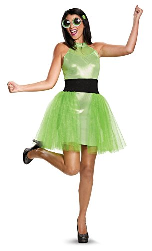 Diy Powerpuff Girl Costumes (Disguise Women's Buttercup Deluxe Adult Costume, Green,)