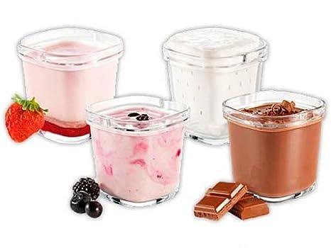 Tefal Multidelices - Accesorios yogurtera, 6 tarros, cristal, 150 mililitros, 6 escurridores para queso fresco y 6 tapas: Amazon.es: Hogar