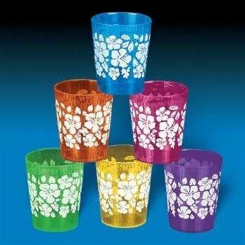 Hibiscus Print Mini Glass Dozen