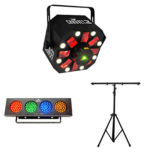 Chauvet DJ SWARM 5FX RGBAW LED Derby Strobe + Wash Light Strip + Lighting ()