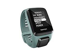 TomTom Spark 3 Cardio + Music, GPS Fitness Watch + Heart Rate Monitor + 3GB Music (Aqua, Small)