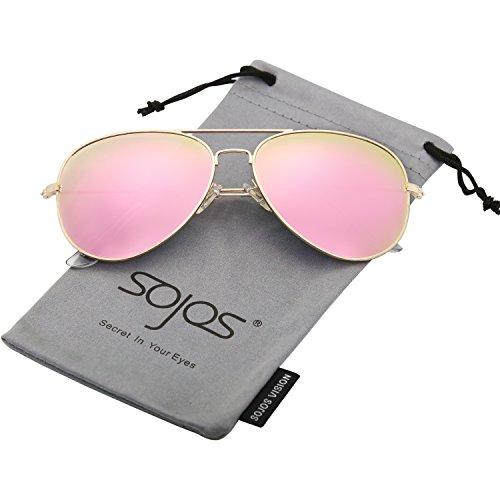 7113e75c19 50% de descuento SOJOS Gafas De Sol Para Hombres Y Mujeres Aviador Clásico  Marco Metal