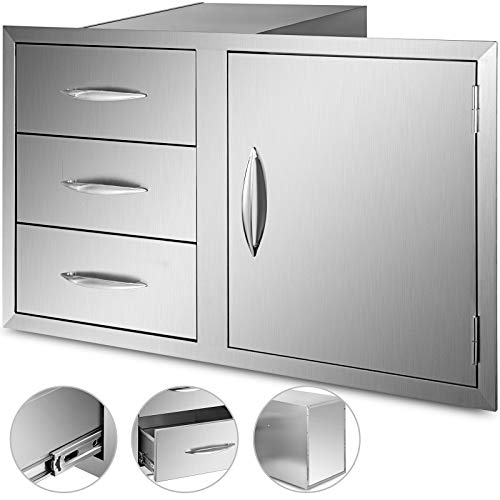 Mophorn Outdoor Kitchen Door Drawer Combo 39 Inch Stainless Steel
