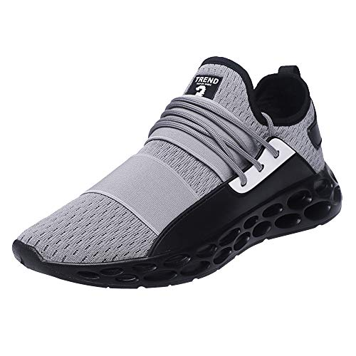- AgrinTol Walking Shoes for Men Casual Sneakers Lightweight Athletic Shoes Lace-up Running Sports Shoes Grey