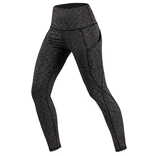 (TOPUNDER Running Yoga Athletic Pants Women Pocket Leggings Fitness Sports Trousers)