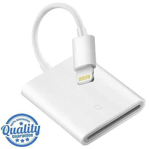 Card Audio Memory - Ultimate-Audio SD Card Camera Reader Compatible iPhone iPad iPod, Mini Trail Game Camera Connection Kit SD Reader Compatible with iPhone Xs Max/Xs//Xr/X/8/8 Plus/7/7 Plus/6/6s/iPad Mini/Air/Pro (MAX)