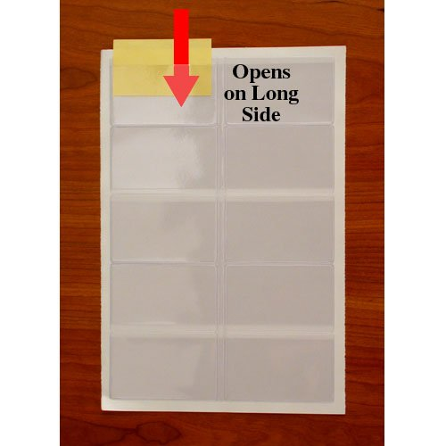 StoreSMART Business Card Pockets - Peel & Stick open on the LONG side - 300 Pack - (ZSTB222L-300) by STORE SMART (Image #4)