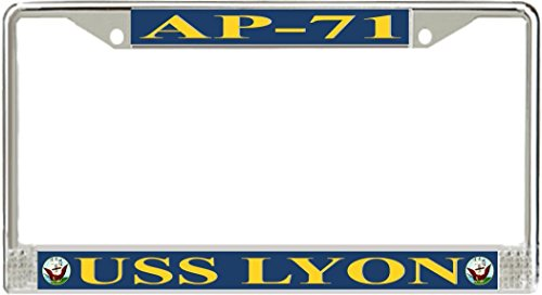 VR Graphics USS Lyon AP-71 Metal License Plate Frames Lyon One Frame
