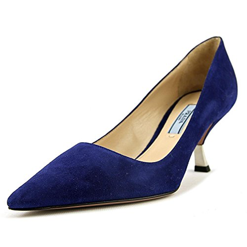 Prada 1T122F Women US 5.5 Blue Heels