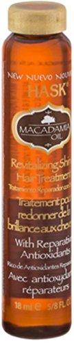 (Hask Macadamia Revitalizing Shine Oil, .625 oz (Pack of 4))