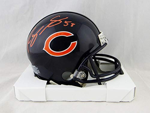 Roquan Smith Autographed Chicago Bears Mini Helmet- Beckett Auth Red ()