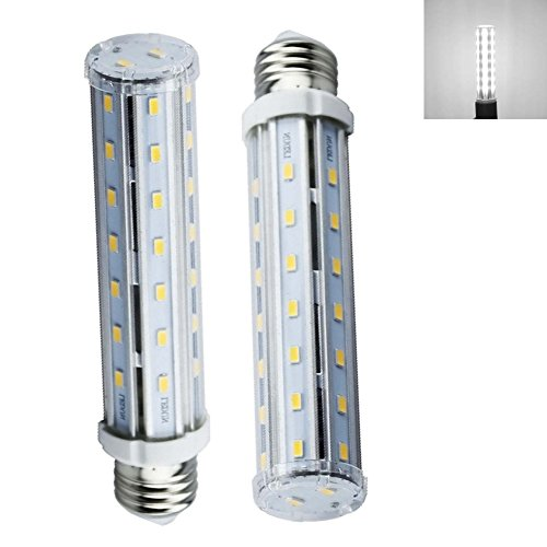 Bonlux 2-pack E26 Medium Screw Base 15W LED Corn Light Bulb, T10 Tubular Lamp, Replacement for 140W Halogen/Incandescent Bulb (Daylight - Medium T10 Screw