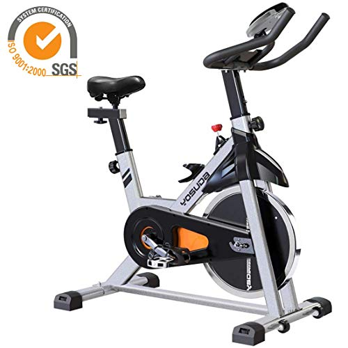 YOSUDA Indoor Cycling Bike Stationary - Cycle Bike with Ipad Mount & Comfortable Seat Cushion (Gray) (Best Way To Lose 40 Pounds)