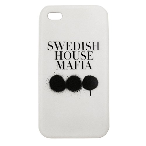 Swedish House Mafia: Rubber iPhone 4 Cover - White, One Size