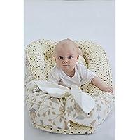 Baby Nest Snuggle Nest Cotton Baby Girl Positioner Crib Beige