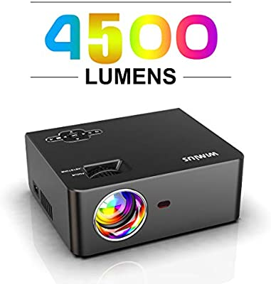 Proyector, WiMiUS 4500 Lúmenes Proyector de Cine en Casa Full HD ...