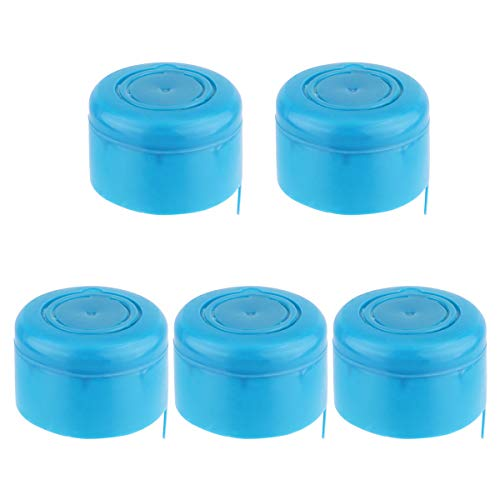 - Freebily 3 and 5 Gallon Non-Spill Caps,Replacement Water Bottle Snap On Cap Anti Splash Peel 5 Piece Blue One Size