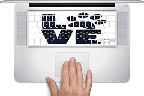 Love Pets Pet Paws Dog Cat Puppy Kitten Stacked Keyboard Decals by Moonlight Printing for 11 inch MacBook Air