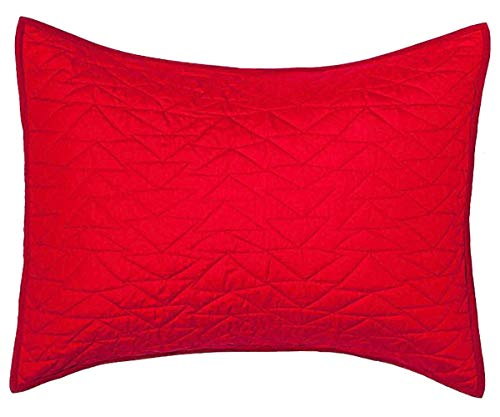 - Pillowfort Triangle Stitch Standard Pillow Sham - Red