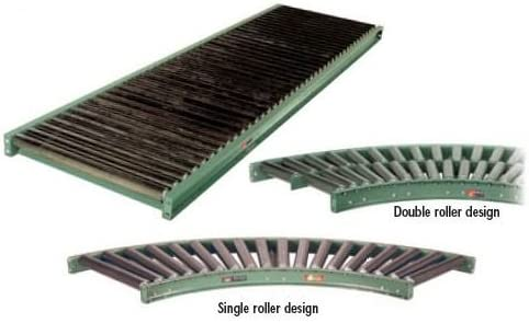 Rollers Set: High +1//4 90 Deg Curve In : 43 Scrv-90-43 Between Frame Inside Radius: 48 48 In Inside Radius Roller Desc: 40 Double Roach Conveyor 297Sc-43-90