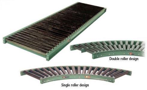 Roach-Conveyor-Structural-Hd-Conveyor-9-In-Ctr-10-Ft-L-Shdrc-51-9-10-Between-Frame-In-51-Roller-Center-9-Length-10-Rollers-Set-Low-34-Shdrc-51-9-10